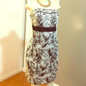 H£M Palm Leaves Cotton Knee Length Dress
